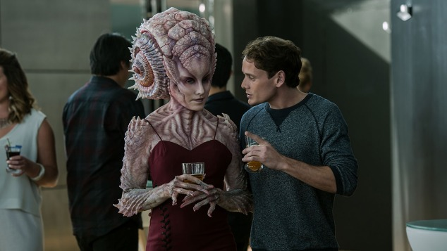Anton Yelchin plays Chekov in Star Trek Beyond from Paramount Pictures, Skydance, Bad Robot, Sneaky Shark and Perfect Storm Entertainment